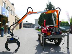 grua forestal hidraulica para tractor portada en tractor mod crab 3000