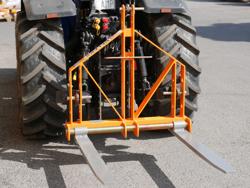 elevador trasero de palets para enganche de tractor mod d 700