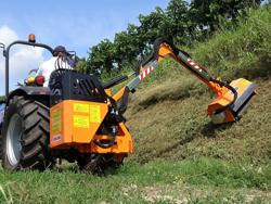 trituradora de brazo para tractor con cabezal de corte mod airone 80