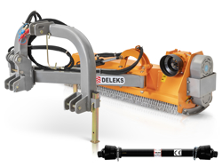desbrozadora lateral de martillos para tractor deleks