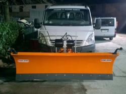 pala quitanieves frontal para furgones ln 250 j