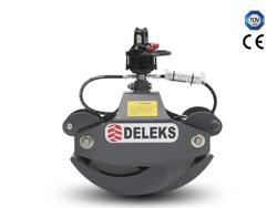 pinza hidráulica forestal y rotador para mini excavadoras y grúas forestales capacidad 400kg mod dk 10 gr 10