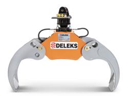 pinza forestal y rotator hidráulico para mini excavadoras y grúas forestales capacidad 1000kg mod dk 11c gr 30f