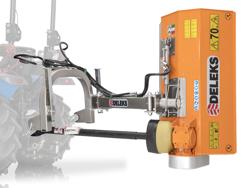 trituradora de martillos con brazo volpe 100 para pequeno tractor