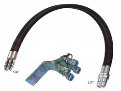 2 tubos hid 4 00m juego de conexiones rapidas
