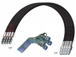 4 flexibles hidráulicos de 4 00m