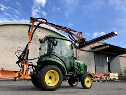 recortadora de brazo hidraulica cortasetos para tractor mod falco 180 h
