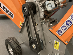 trituradora de ramas térmica dk 500 honda con motor independiente 15cv
