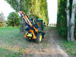 cortasetos hidráulico montado en tractor modelo falco 180