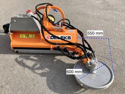 trituradora de martillos con disco lateral hidraulico para tractor frutero mod interfila 130