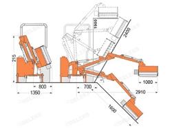 trituradora de brazo para tractor con cabezal de corte mod airone 100