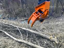 cabezal forestal pinza corte de ramas para mini excavadora mod cf 18h