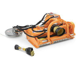 trituradora de martillos con disco lateral hidraulico para tractor frutero mod interfila 150