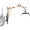 grúas forestales para tractor con pinza oleodinámica y rotor giratorio 360 para el manejo de troncos de madera