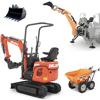 miniexcavadoras de orugas con motor y retroexcavadoras para tractor deleks