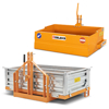 palas de transporte basculantes y cajones para tractor